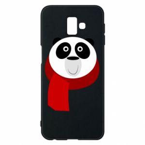 Etui na Samsung J6 Plus 2018 Panda in a color scarf