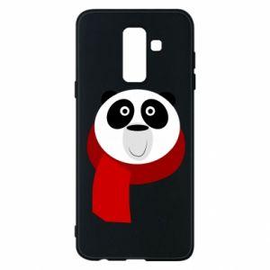 Etui na Samsung A6+ 2018 Panda in a color scarf