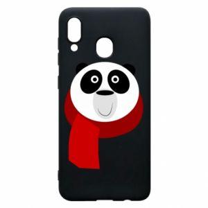 Etui na Samsung A20 Panda in a color scarf