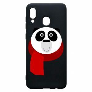 Etui na Samsung A30 Panda in a color scarf