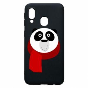 Etui na Samsung A40 Panda in a color scarf