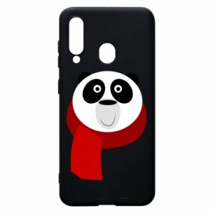 Etui na Samsung A60 Panda in a color scarf