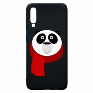 Etui na Samsung A70 Panda in a color scarf