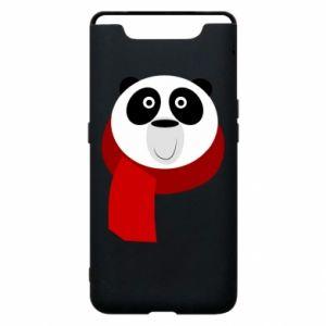 Etui na Samsung A80 Panda in a color scarf