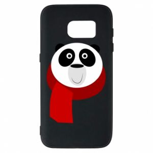 Etui na Samsung S7 Panda in a color scarf