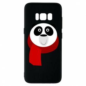 Etui na Samsung S8 Panda in a color scarf