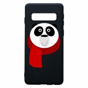 Etui na Samsung S10 Panda in a color scarf