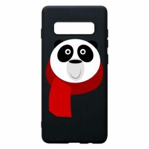 Etui na Samsung S10+ Panda in a color scarf