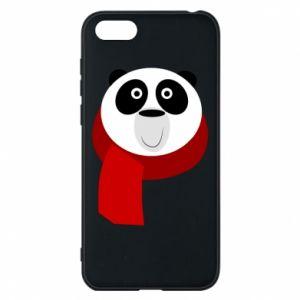 Etui na Huawei Y5 2018 Panda in a color scarf