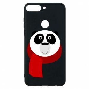 Etui na Huawei Y7 Prime 2018 Panda in a color scarf