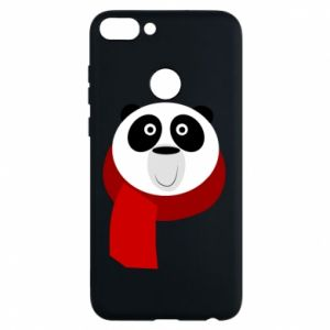 Phone case for Huawei P Smart Panda in a color scarf - PrintSalon