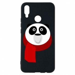 Etui na Huawei P Smart Plus Panda in a color scarf