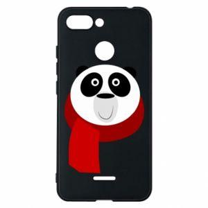 Etui na Xiaomi Redmi 6 Panda in a color scarf