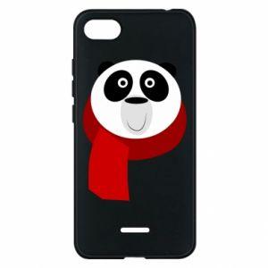 Etui na Xiaomi Redmi 6A Panda in a color scarf