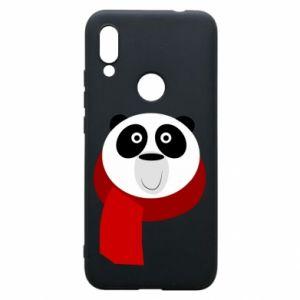 Etui na Xiaomi Redmi 7 Panda in a color scarf