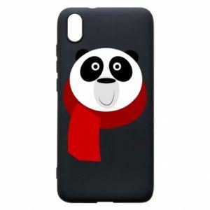 Etui na Xiaomi Redmi 7A Panda in a color scarf