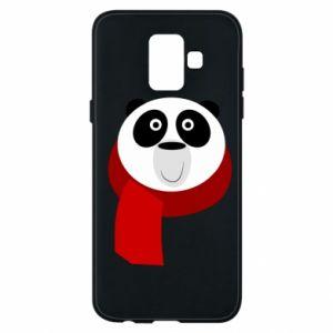 Etui na Samsung A6 2018 Panda in a color scarf