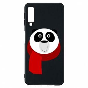 Etui na Samsung A7 2018 Panda in a color scarf