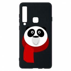 Etui na Samsung A9 2018 Panda in a color scarf