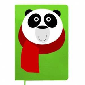 Notes Panda in a color scarf