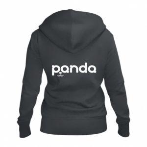 Women's zip up hoodies Panda smirk