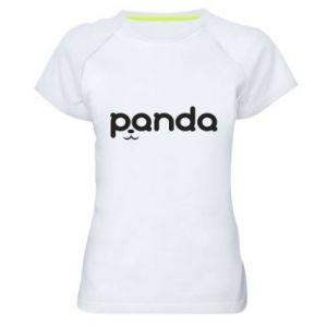 Women's sports t-shirt Panda smirk