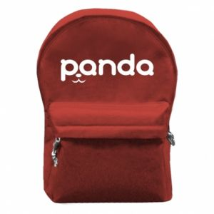 Backpack with front pocket Panda smirk