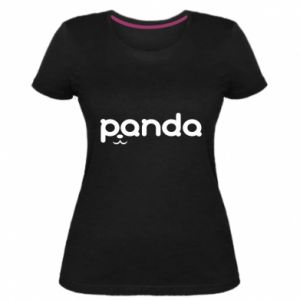 Damska premium koszulka Panda smirk