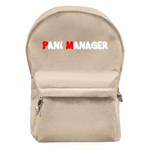 Plecak z przednią kieszenią Pani manager