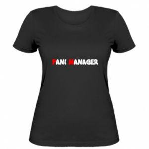 Women's t-shirt Mrs. manager