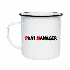 Kubek emaliowane Pani manager