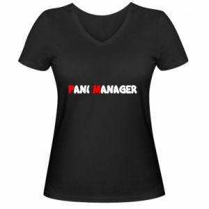 Damska koszulka V-neck Pani manager