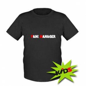 Dziecięcy T-shirt Pani manager