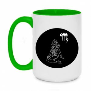 Two-toned mug 450ml Virgo and sign to the Virgo