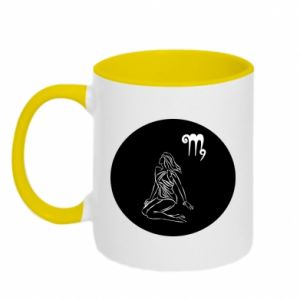 Two-toned mug Virgo and sign to the Virgo