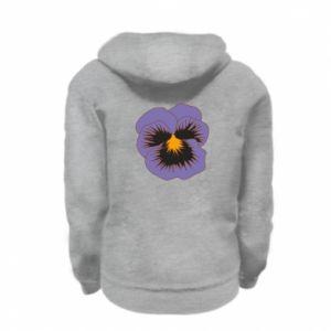 Bluza na zamek dziecięca Pansy Flower