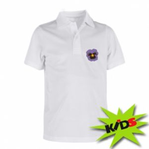 Children's Polo shirts Pansy Flower
