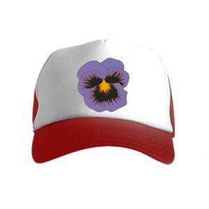 Kid's Trucker Hat Pansy Flower