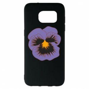 Etui na Samsung S7 EDGE Pansy Flower