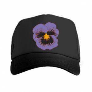 Trucker hat Pansy Flower