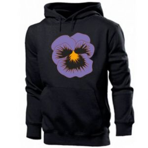 Męska bluza z kapturem Pansy Flower