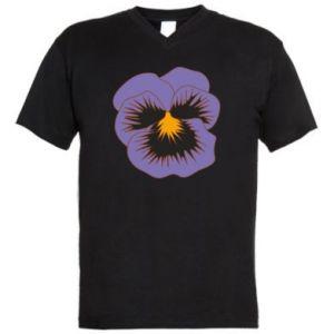 Męska koszulka V-neck Pansy Flower
