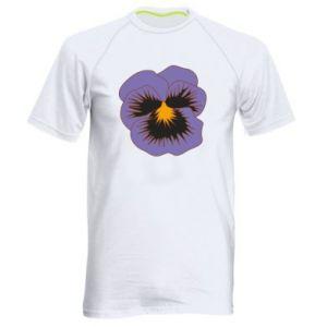 Men's sports t-shirt Pansy Flower