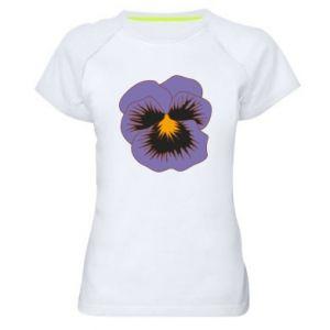 Women's sports t-shirt Pansy Flower