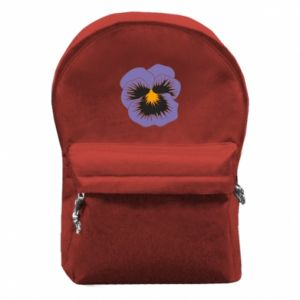 Backpack with front pocket Pansy Flower