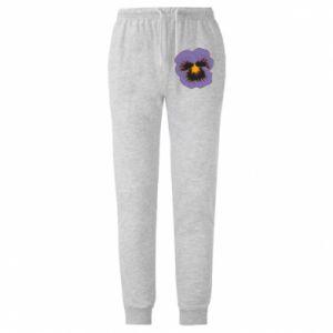 Męskie spodnie lekkie Pansy Flower