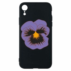 Etui na iPhone XR Pansy Flower