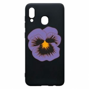 Phone case for Samsung A20 Pansy Flower