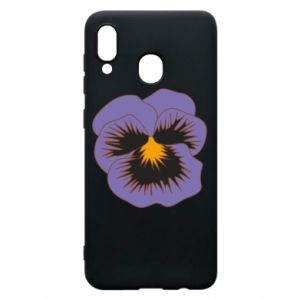 Phone case for Samsung A30 Pansy Flower