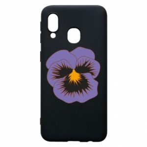 Phone case for Samsung A40 Pansy Flower